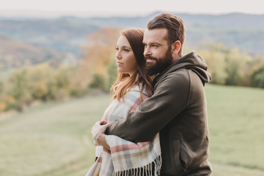 Shooting couple lifestyle automne